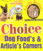 Choice Dog Foods & Articles Corners