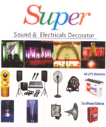 Super Sound & Electricals Decorator  | SolapurMall.com