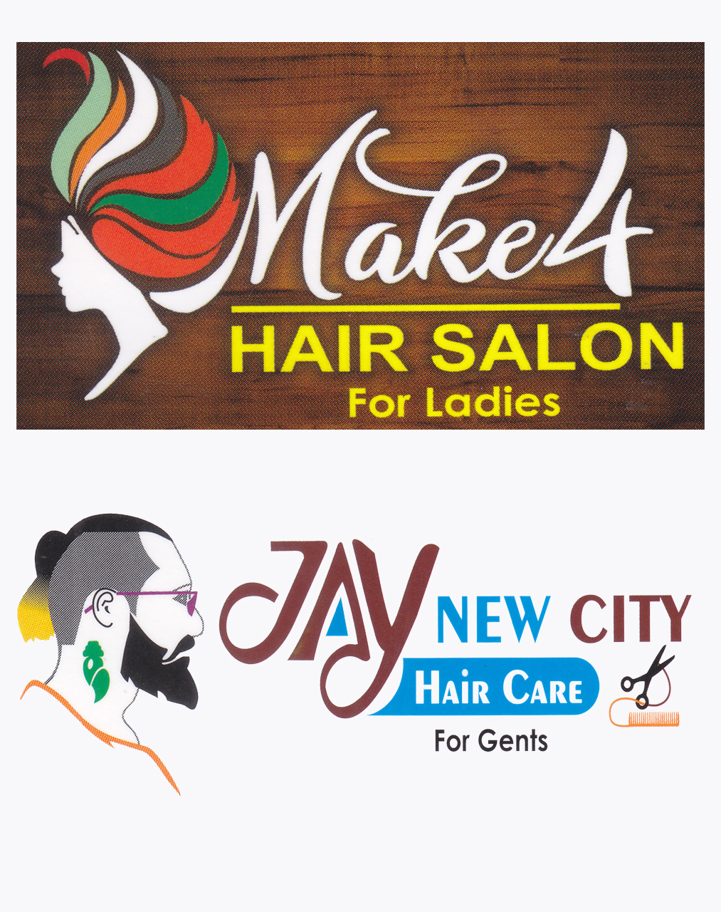 MAKE 4 HAIR SALOON FOR LADIES <BR>JAY NEW CITY HAIR CARE FOR GENTS